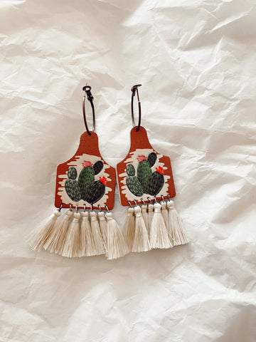 Fringe & Fun Cactus Earrings