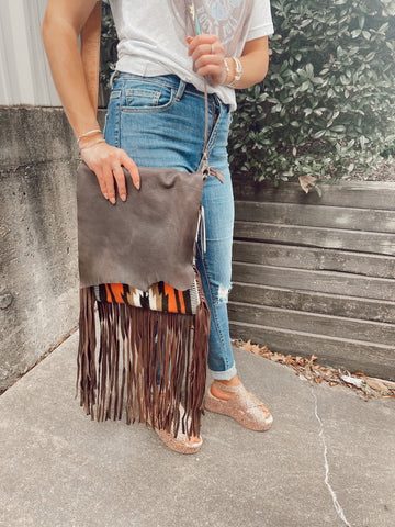 Brown Leather Concealed Carry American Darling Bag