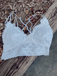 Somewhere Warmer Padded Lace Bralette | White