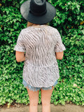 Essential Zebra Print Baby-Doll Top