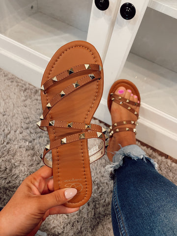 Studded Tan Sandals