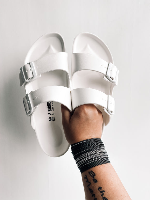 Waterproof Birkenstocks | White