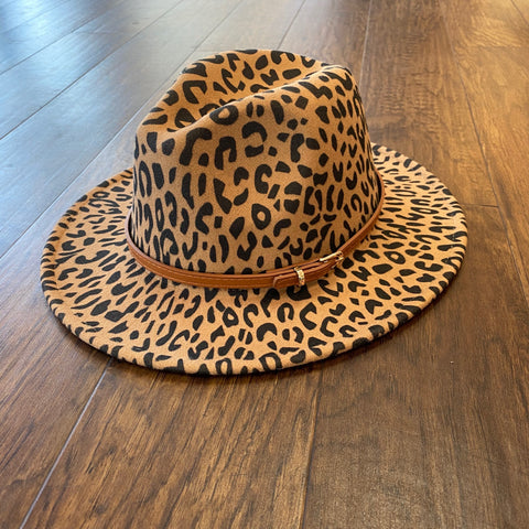 Swept Away Camel Leopard Hat