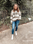 Distressed Striped Chenille Sweater | Colors