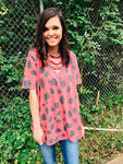Play Along Fuchsia Dalmatian Print Strappy Top