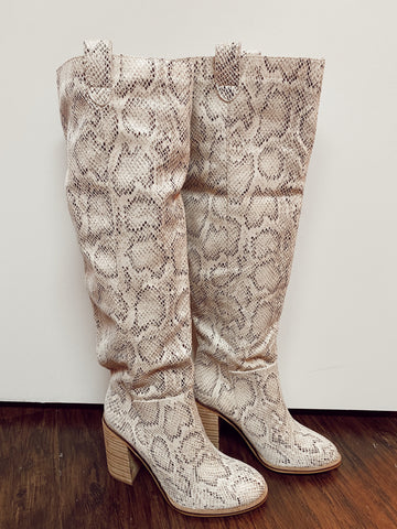 Saint Knee High Snake Boots