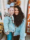 Dream About You Mini Me Leopard Denim Jacket