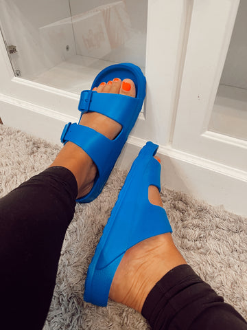 Waterslide Blue Sandal | Boutique by Corkys