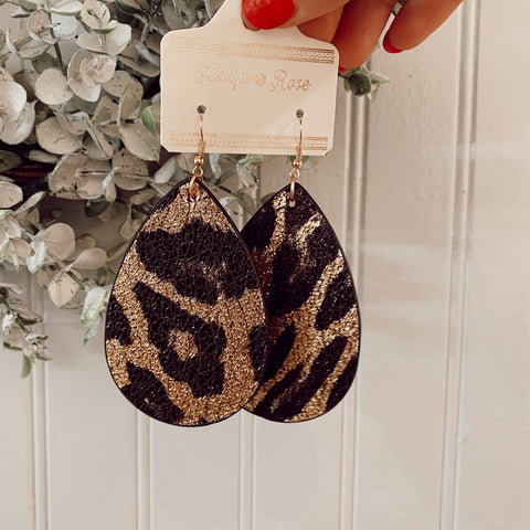 Wildin' Leopard Teardrop Earrings
