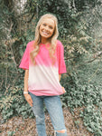 Dip-Dyed Hot Pink Tee