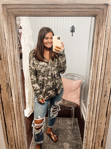 Every Little Thing Camo Top