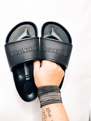 Waterproof Black Barbados Birkenstock Slides