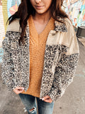 Rock On Baby Leopard Denim Jacket