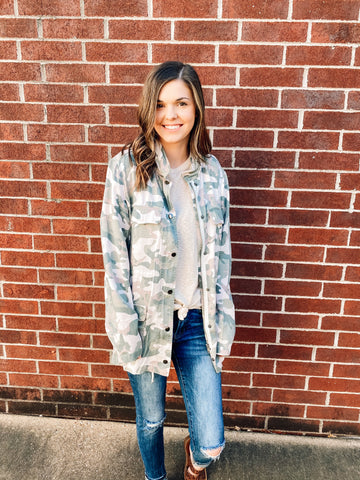 Feelin' It Camo Jacket | Dear John