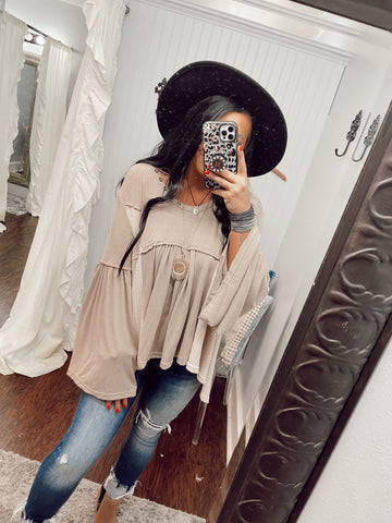 So Radiant Knit Boho Top