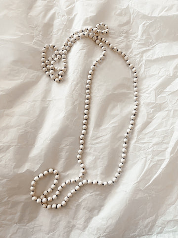 White Turquoise Bead Necklace