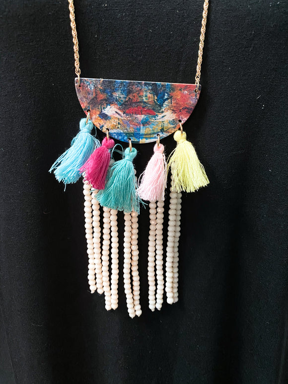 Bahama Breeze Necklace | Multi-color Pendant
