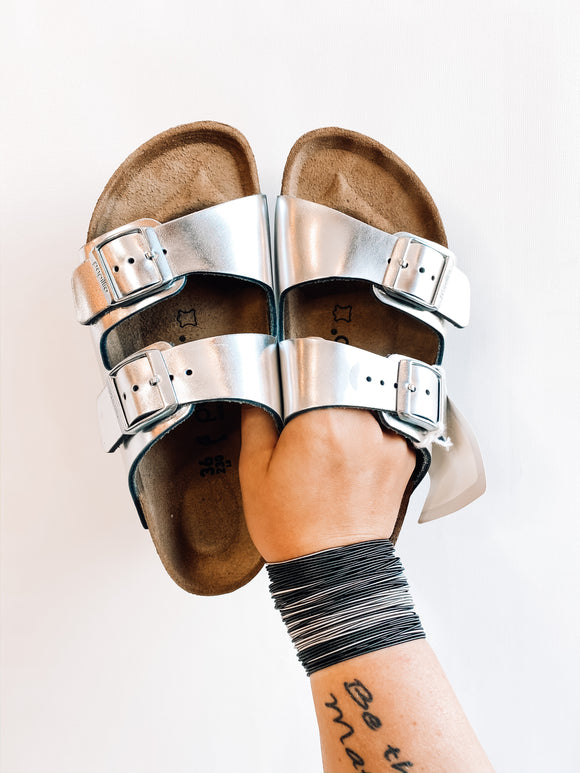 Arizona Pap Platform | Metallic Silver
