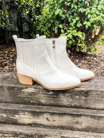Starboard White Booties | Boutique by Corkys