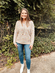 Ivory Confetti Chunky Sweater
