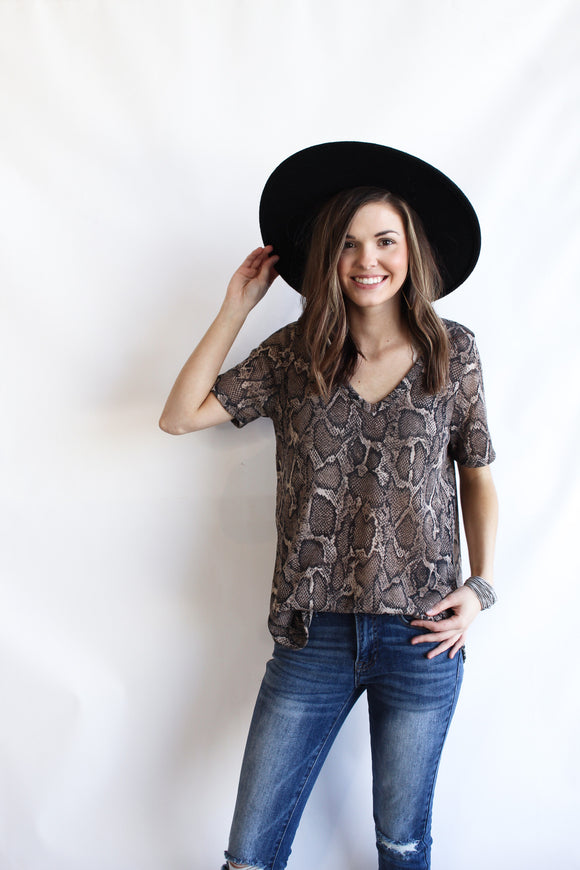 Take A Look At Me Snake-print Top