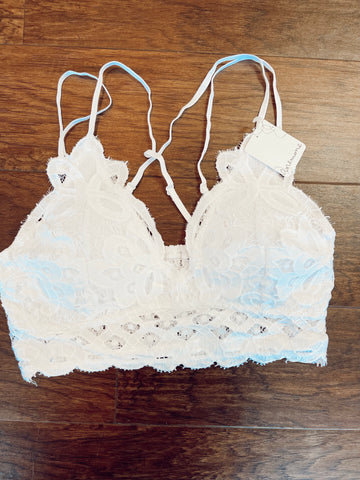 Wild One Crochet Lace Bralette | White
