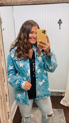 Vintage Denim Star Washed Jacket