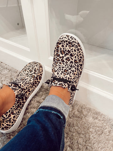 Kayak Leopard Slip On's
