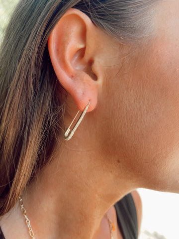 Safety First Pin Statement Earrings