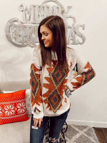 Old Time Sake Aztec Cozy Sweater