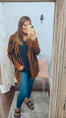 Caramel Safari | Cardigan