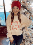 Merry & Bright Cropped Cord Sweatshirt | Charlie Southern