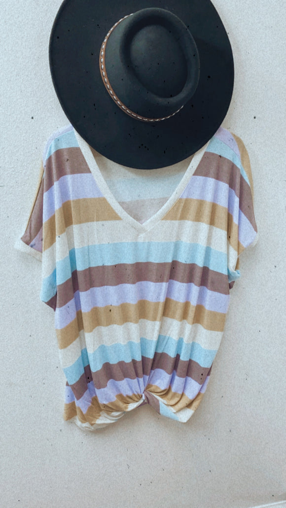 Multi Colored Striped Top