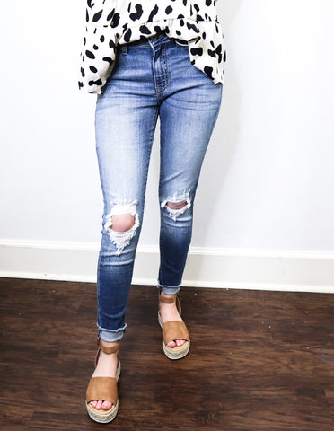 My Kinda Distressed Denim Pants