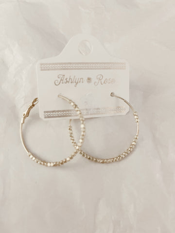 Baby Bead Gold Hoops