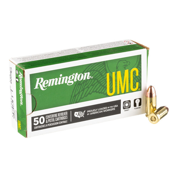 9mm Luger, Remington Ammunition, UMC FMJ 124GR 50RD/BX