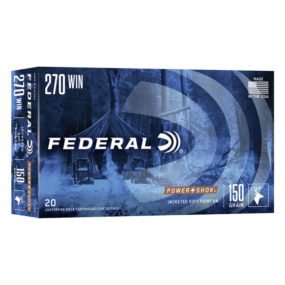 .270 Winchester - Federal Ammunition - Power•Shok JSP-RN 150GR. 20RD/BX