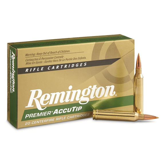 7mm Rem Mag, Remington Ammo, Premier Accutip BT 150GR., 20BX