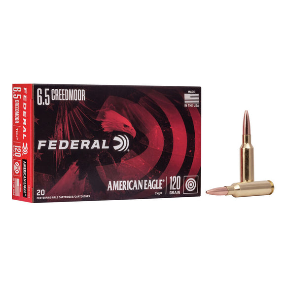 6.5 Creedmoor - Federal Ammunition - American Eagle TMJ 120GR. 20RD/BX