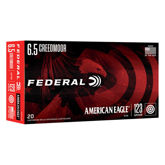 6.5 Creedmoor - Federal Ammunition - American Eagle OTM 123GR. 20RD/BX