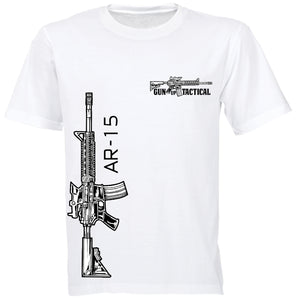 AR-15 T-Shirt | Gun Up Tactical