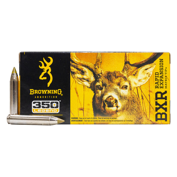 350 Legend - Browning Ammunition - Rifle, Rapid Expansion BXR 155GR. 20RD/BX