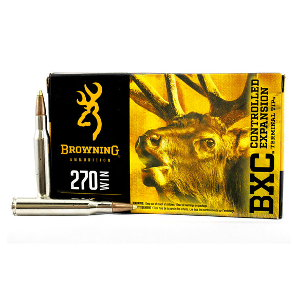 270 WIN - Browning Ammunition - Rifle, BXC BIG GAME 145GR. 20RD/BX