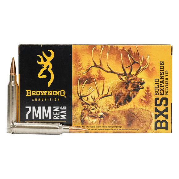 7mm Rem Mag - Browning Ammo -Solid Expansion BXS, 139GR., 20BX