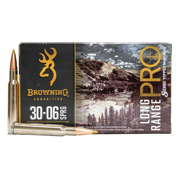 30-06 Springfield - Browning Ammunition - Rifle, Long Range Pro 195GR. 20RD/BX