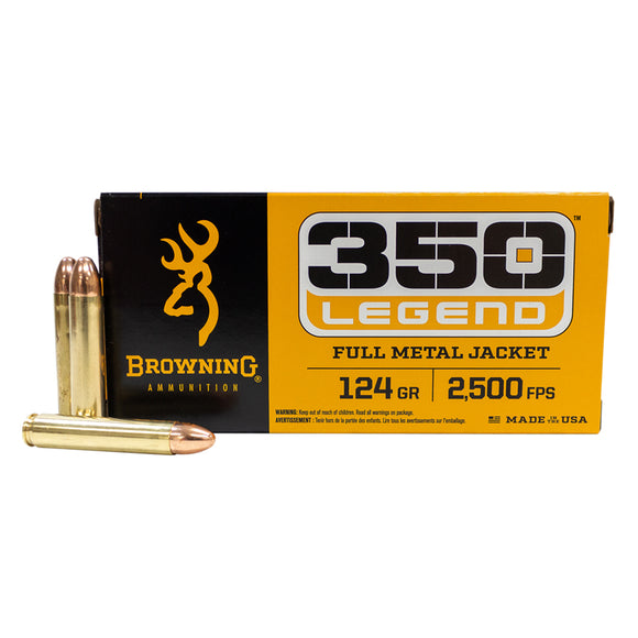 350 Legend - Browning Ammunition - Rifle, Full Metal Jacket 124GR. 20RD/BX