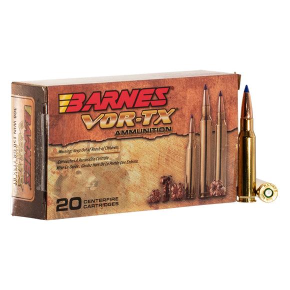 .308 WIN - Barnes VOR-TX Ammunition - Rifle TTSX-BT, 150GR. 20RD/BX