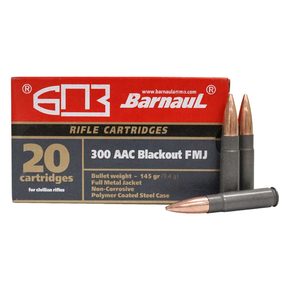 .300 AAC Blackout - Barnaul Ammunition - Rifle, FMJ, 145GR. 20RD/BX