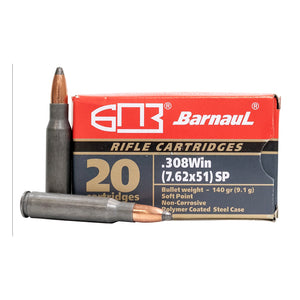 .308 WIN - Barnaul Ammunition - Rifle, SP, 140GR. 20RD/BX