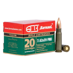 7.62x39mm - Barnaul Ammunition - Rifle, FMJ, 123GR. 20RD/BX